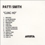 Click here for more info about 'Patti Smith - Gung Ho'