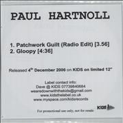 Click here for more info about 'Paul Hartnoll - Patchwork Guilt'