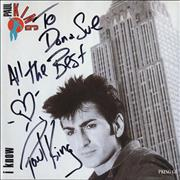 Click here for more info about 'Paul King - I Know - Autographed'