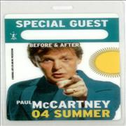 Click here for more info about 'Paul McCartney and Wings - '04 Summer Tour Passes'