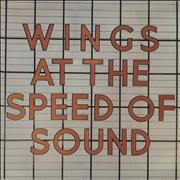 Paul McCartney and Wings At The Speed Of Sound - Promo stamped USA vinyl LP