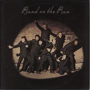 Paul McCartney and Wings Band On The Run - 1st + Poster - VG UK vinyl LP