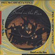 Paul McCartney and Wings Band On The Run USA picture disc LP
