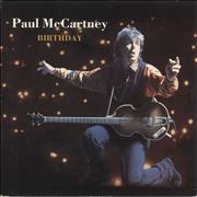 "Paul McCartney and Wings Birthday - Inj UK 7"" vinyl"