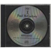 Paul McCartney and Wings Birthday USA CD single Promo