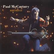 "Paul McCartney and Wings Birthday - Paper Label UK 7"" vinyl"