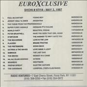 Click here for more info about 'Paul McCartney and Wings - EuroXclusive 97-18'