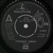 "Paul McCartney and Wings Goodnight Tonight - A Label UK 7"" vinyl Promo"