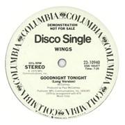 "Paul McCartney and Wings Goodnight Tonight USA 12"" vinyl Promo"