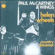 "Paul McCartney and Wings Helen Wheels France 7"" vinyl"