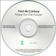 Paul McCartney and Wings Hope For The Future - Six Mixes USA CD-R acetate