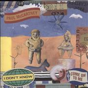 """Paul McCartney and Wings I Don't Know / Come On To Me - RSD BF18 UK 7"""" vinyl"""