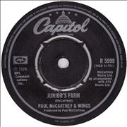 Click here for more info about 'Paul McCartney and Wings - Junior's Farm - 2nd - 4pr'