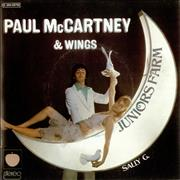 "Paul McCartney and Wings Junior's Farm France 7"" vinyl"