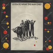 """Paul McCartney and Wings Listen To What The Man Said + P/S UK 7"""" vinyl"""