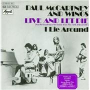 "Paul McCartney and Wings Live And Let Die Germany 7"" vinyl"