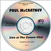 Paul McCartney and Wings Live At The Cavern Club USA CD-R acetate