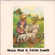 """Paul McCartney and Wings Mary Had A Little Lamb - P/S w/o B-side USA 7"""" vinyl"""