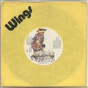 "Paul McCartney and Wings Mary Had A Little Lamb - Solid + Wings Sleeve UK 7"" vinyl"