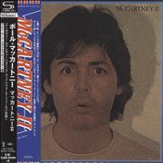 Paul McCartney and Wings McCartney II Japan SHM CD