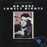 Click here for more info about 'Paul McCartney and Wings - No More Lonely Nights - Gold Promo Stamped'