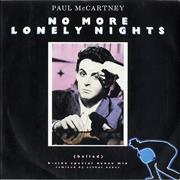 "Paul McCartney and Wings No More Lonely Nights (Ballad) - P/S UK 7"" vinyl"