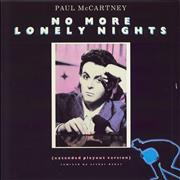 "Paul McCartney and Wings No More Lonely Nights (Extended Playout Version) UK 12"" vinyl"