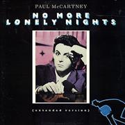 """Paul McCartney and Wings No More Lonely Nights USA 12"""" vinyl"""