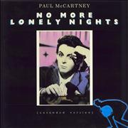 "Paul McCartney and Wings No More Lonely Nights UK 12"" vinyl"