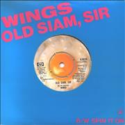 Click here for more info about 'Paul McCartney and Wings - Old Siam, Sir - Titled Sleeve'