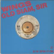 Click here for more info about 'Paul McCartney and Wings - Old Siam Sir - Titled Sleeve - EX'