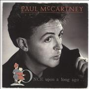 "Paul McCartney and Wings Once Upon A Long Ago - Wide + p/s UK 7"" vinyl"
