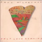 """Paul McCartney and Wings Only Love Remains USA 7"""" vinyl"""