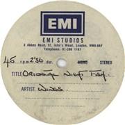 Paul McCartney and Wings Oriental Nightfish UK acetate