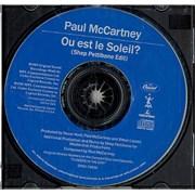 Paul McCartney and Wings Ou Est Le Soleil? USA CD single Promo