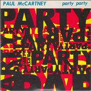 "Paul McCartney and Wings Party Party UK 3"" CD single"
