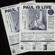 Click here for more info about 'Paul McCartney and Wings - Paul Is Live - Pair Of Handbills'
