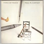 Paul McCartney and Wings Pipes Of Peace - Factory Sample UK vinyl LP