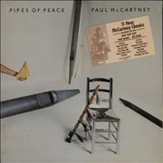 Paul McCartney and Wings Pipes Of Peace - Sealed + Sticker USA vinyl LP