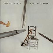 Paul McCartney and Wings Pipes Of Peace Netherlands vinyl LP