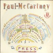 "Paul McCartney and Wings Press - stickered p/s UK 12"" vinyl"