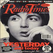 Paul McCartney and Wings Radio Times - Special Souvenir Issue UK magazine