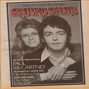 Paul McCartney and Wings Rolling Stone - January 1974 & June 1976 USA magazine