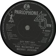 "Paul McCartney and Wings Say Say Say UK 7"" vinyl"