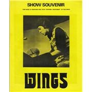 Paul McCartney and Wings Show Souvenir 1973 UK tour programme