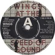 "Paul McCartney and Wings Silly Love Songs UK 7"" vinyl Promo"