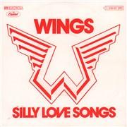 "Paul McCartney and Wings Silly Love Songs Germany 7"" vinyl"