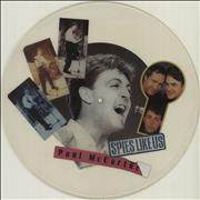 Paul McCartney and Wings Spies Like Us - Uncut UK uncut picture disc Promo