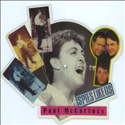 Paul McCartney and Wings Spies Like Us UK shaped picture disc