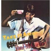 "Paul McCartney and Wings Take It Away - gold promo stamp USA 12"" vinyl"